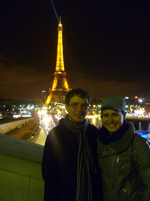 We lost each other on the Metro, but reunited after an hour and had a fantastic time at the Eiffel Tower.